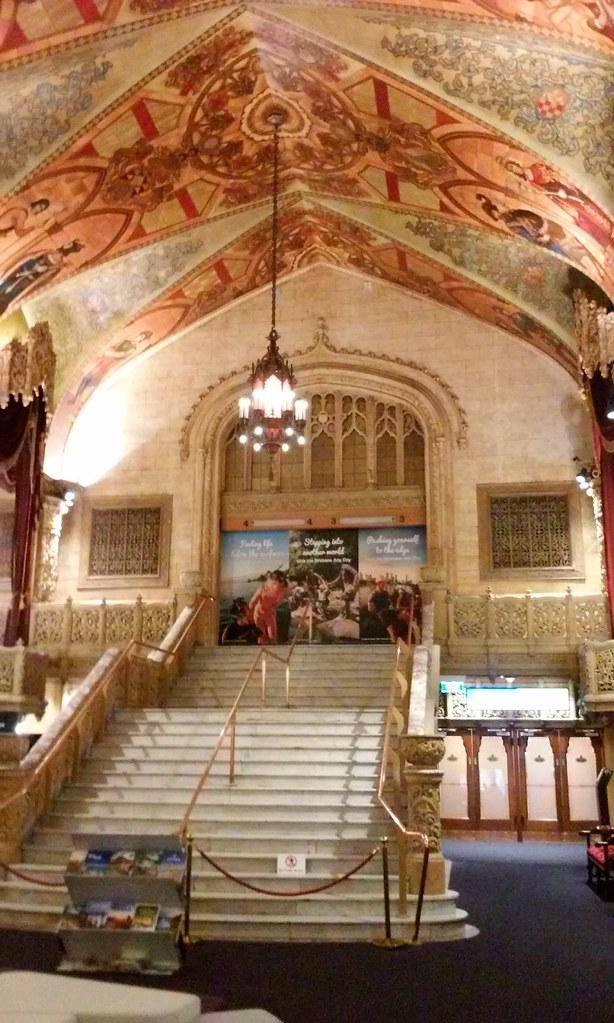 Brisbane. Interior shot of the former Regent Cinema built in 1929. The grand staircase.