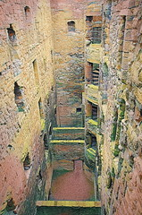 Stairs and Passages (Rollingstone1) Tags: linlithgowpalace westlothian scotland ruins stairs passages walls stairway stairwell stone high royalresidence palace medieval vivid art artwork history historic scottish texture
