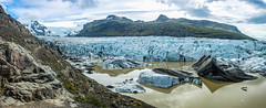 D71_7471-Pano.jpg (David Hamments) Tags: icebergs svinafellsjokll glacier southeastcoast panorama roadtohofn skaftafell national park