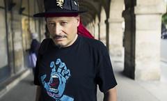 Jean-Dominique (JoChristo) Tags: portrait stranger paris leica leicaq streetphotography life eyes france hat chapeau artist singer rue man arcades