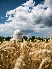 Observatory in the Rye (un2112) Tags: observatory rye clouds planetarium sülysáp hungary countryside july summer g80