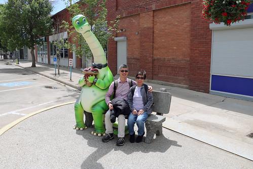 Befriending a dinosaur