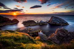 Seagull Slumber (Augmented Reality Images (Getty Contributor)) Tags: canon clouds colours dusk landscape leefilters longexposure morayfirth portknockie rocks scotland seagulls sunset water waves