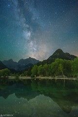 Milky way at the Lake Jasna - Triglav National Park (Captures.ch) Tags: 2017 black blue brown capture clear galaxy gray green july lake lakejasna landscape milkyway mountains nikon orange perfect red reelection sigma slovenia stars summer travel triglav triglavnationalpark water white yellow ngc