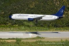 Blue Panorama B737 ~ EI-GAX (© Freddie) Tags: skiathos thessaly sporades aegean greece bluepanorama boeing b737 eigax skiathosairport lgsk jsi ©freddie fjroll cittadigenova name named