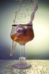 Kasteel beer eruption (Wim van Bezouw) Tags: beer glass sony ilce7m2 strobist pluto highspeed plutotrigger kasteelbier castlebeer