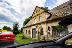 A house by the train. (pasiak75) Tags: 2017 czechrepublic czechy samyang12mm20 building dom droga road