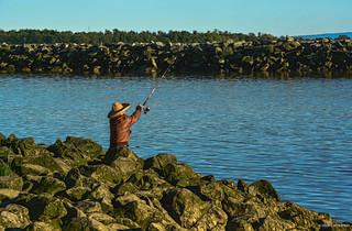 Fisherman at Garry Point Park - Steveston