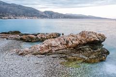 DSCF1607 (Outsider42) Tags: mer plage côte azur roquebrune cap martin france beach sunset stone rocher