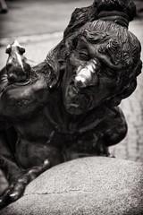 Witch & rat (uhx72) Tags: bw sepia hexentanzplatz thale harz pandemonium mountanis germany witch statue