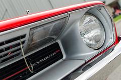 Tucked away turn signal (GmanViz) Tags: gmanviz color car automobile detail nikon d7000 goodguysppgnationals 1970 plymouth barracuda cuda 340 grille headlight turnsignal bumper hoodpin