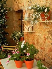 Monteriggioni (Ellipa) Tags: monteriggioni toscana vasi fiori finestre
