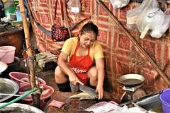 The Fishmonger (Κώστας ex Tungmay) Tags: fishmonger thailand market