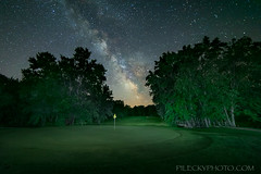 Hole in One (pileckyphoto.com) Tags: aurora craigpilecky excitement golfcourse langladecounty midnight night northwoods riverview silence silhouette sky stars summer travel