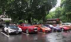 Bugatti Veyron Grand Sport Vitesse, Rolls Royce Dawn, Lamborghini Aventador,  Porsche GT3RS,  Ferrari 328 GTS (p3cks57) Tags: supercars cars worldcars exotics hypercars combo bugatti veyron grand sport vitesse rolls royce dawn lamborghini aventador porsche gt3rs ferrari 328 gts