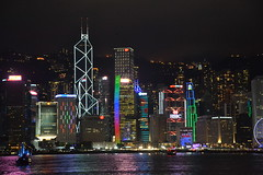 Hong Kong Island Skyline at night (Simon_sees) Tags: holiday vacay vacation travel victoriaharbour harbor harbour buildings architecture night skyline hongkong inspiredbylove