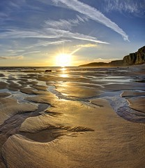 Refuge (pauldunn52) Tags: beach sunset traeth mawr glamorgan heritage coast wales witches point pools sand channels