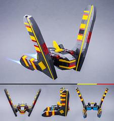 Bumerang (Milan Sekiz) Tags: lego blacktron black yellow red space spaceship bumerang