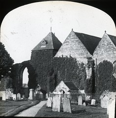 H002191 Winchelsea Church (East Sussex Libraries Historical Photos) Tags: church winchelsea graveyard gravestones trees path architecture