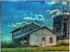 Progress... (Sherrianne100) Tags: agriculture farm harvestore silo country flag storage rural ozarks missouri