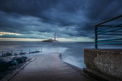 No Cause for Concern (ianbrodie1) Tags: cloud coast coastline stmarys lighthouse sunrise angry moody hightide water ocean north tyneside longexposure nikon d750 1635mm railings concrete causeway rocks leefilters