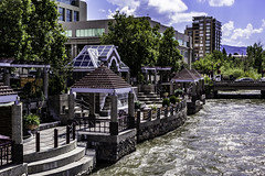 Stores Along the Riverwalk (joe Lach) Tags: renoriverwalkdistrict reno truckeeriver restaurant stores salons museums river flowingwater rushingwater bridge shops nevada joelach
