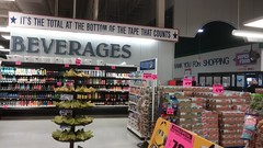 Thank you for shopping – now you should probably leave... (Retail Retell) Tags: superlo foods grocery store southaven ms desoto county retail former schnucks albertsons seessels corrugated metal decor interior seesselsbyalbertsons
