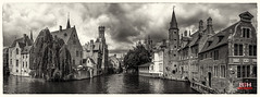 België Brugge panorama 2017 - 8 - 72dpi (robdeheer) Tags: 2017bruggegentbelgiëmedievalcityhistoricalheritagemiddeleeuwsestadbelgiquegandbelgiumblackandwhitepanorama bruges brügge