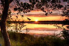 Viewpoint (DJawZ) Tags: summer sunset fujifilm xt2 lake water reflection frame trees leaves sky landscape 2017