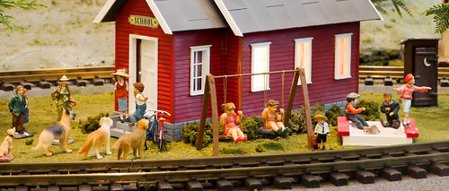 Miniature Schoolhouse Scene - Widescreen Crop