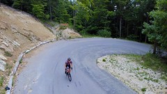 The Ease Up Turn (29in.CH) Tags: summer road bike ride 26072017 yuneec breeze drone hairpin turn climb