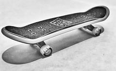 Skate board toy! (bamdadnorouzian) Tags: room filter artful art hobby forfun bw old bandw blackandwhite white black board skateboard real skating paper lamp beautiful light focus toy skate