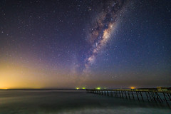 066A1742 (Iron Pig) Tags: milkyway nightscape astrophotography newsouthwales seascape bridge jetty canon catherinehillbay australia au