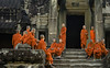 Novices At Angkor Wat (doug-craig) Tags: cambodia cambodia20170130dng asia angkorwat culture monks buddhism buddhist stock nikon d7000 journalism photojournalism dougcraigphotography infinitexposure autofocus thelook earthasia