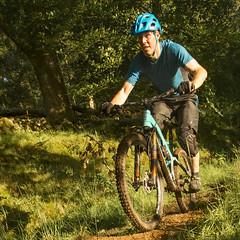 happy chap on a bike-3 (grahamrobb888) Tags: nikon nikond800 sigma20mmf18 sigma scotland summer sunny birnamwood birnam bicycle bicycles mountainbike bike bikers perthshire fun recreation holiday vacation woods woodland grass green