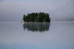 Island on Wollaston Lake, Ontario (Joseph Hollick) Tags: fog island coehill wollastonlake lake