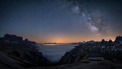 Overflow (Bastian.K) Tags: sterne italien italy milky way star stars starry sky himmel cloud clouds cloudy fog nebel nebelig zeiss loxia 21mm 28 loxia2128 astro astrophotography milkyway milch strase strasse milchstrase long exposure high iso panorama sony a7s ilce7s