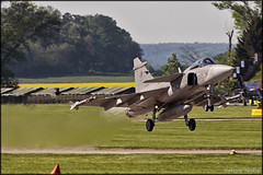JAS-39C Gripen (Pavel Vanka) Tags: jas39c gripen lkcv caslav czech czechrepublic aircraft plane airplane spotter spotting fly flying airshow aviation canon jet fighter saab czechairforce