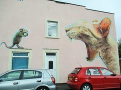 Cat & Mouse (seanwalsh4) Tags: upfeststreetartfestivalbristol 7dwf sundaysfauna catmouse graffiti bristol spraying makemesmile
