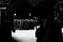 G20 in Hamburg (2) - July, 2017 (Konrad Lembcke) Tags: g20 hamburg germany black white police polizei summit protest demonstration sternschanze schanzenviertel schulterblatt low light night street photography
