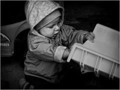 Matyáš... (lubokl47) Tags: child boy bw monochrome panasonic fz50 czech people