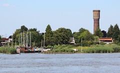 "River ""de Lek"" with view of the marina and water tower ""Krimpen aan de Lek"" (♥ Corry ♥) Tags: kinderdijk water watertower tower toren watertoren landscape landschap marina port jachthaven trees bomen summer zomer architecture architectuur building gebouw ship boat boten banks oever netherlands nederland dutch holland canon"