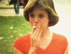 Short 'n' Sassy, 1978 (STUDIOZ7) Tags: smoking smoker cigarette girl woman teen teenager highschool 1970s seventies 70s
