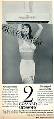 Guaranteed Gossard Bra and Girdle 1964 (Nesster) Tags: vintag magazine print ad advert advertisement good housekeeping 1964 april