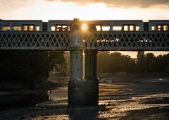 Sunset Underground (jonron239) Tags: kew chiswick thames tideway sunset lu bridge crossing river