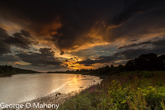 Storm Brewing 1-Explored (George O Mahony) Tags: sunset river suir sky water leefilters explored