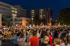 IMGP7225 (TomaszMazon) Tags: protest democracy krakow poland court anti government crowd