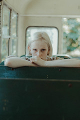 zoo trip 07 (photosbycelina) Tags: photo photographer photography photoshoot vintage style girl model adult young youth pretty nice beautiful 50mm blonde blondegirl aw lightroom lightroompreset presets canon canoneos