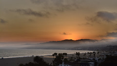 and the fog rolled in (remiklitsch) Tags: sunset fog beach santamonica palisadespark ocean evening nikon remiklitsch clouds dusk golden mar sea sun sand mountains palmtrees city landscape nature goldenhour panoramic california usa july summer