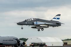 BAe Hawk Mk51 (Manx John) Tags: finnishairforcebaehawkmk51hw341cn312238 sal70400 finnish air force bae hawk mk51 hw341 cn 312238 riat2017